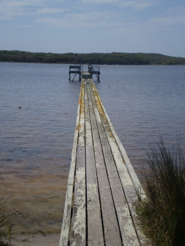 The jetty on the Blackwood River at Augusta.