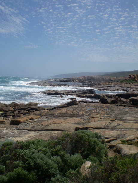 The south west corner of Australia where the Indian Ocean meets the Southern ocean