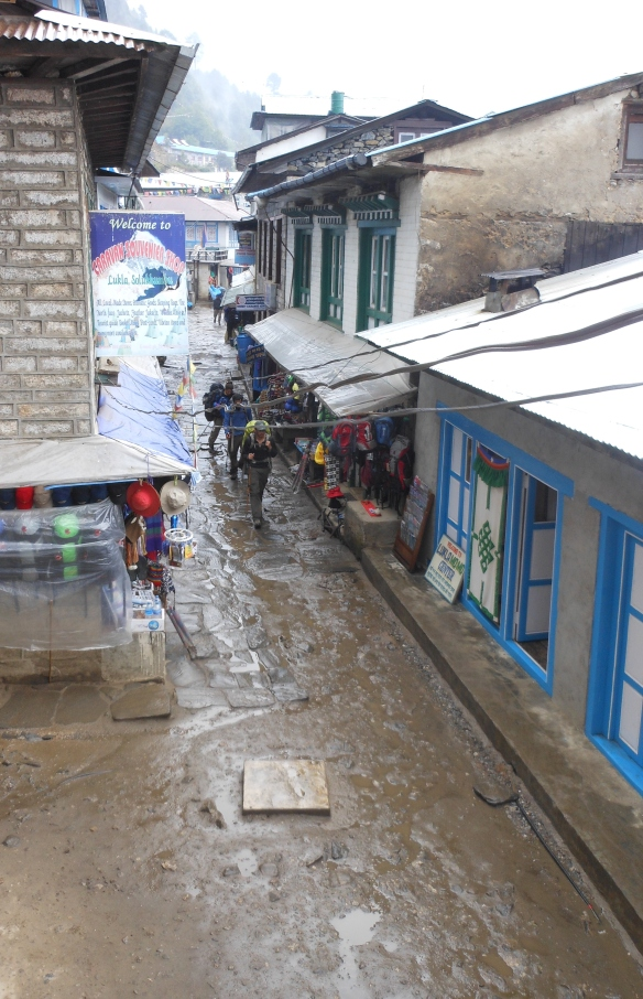 Lukla - streets of mud!